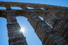 Antique roman aqueduct in Segovia, Spain. Aantique roman aqueduct in Segovia, Castilla y Leon, Spain Royalty Free Stock Photography