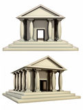Antique roman building. Isolated 3D Antique roman building Stock Photography