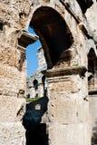 Antique Roman forum in Pula Stock Photos