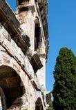 Antique Roman forum in Pula Stock Images