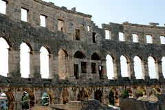 Antique Roman forum in Pula Royalty Free Stock Photography