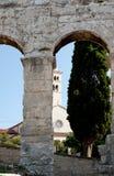 Antique Roman forum in Pula Royalty Free Stock Photos