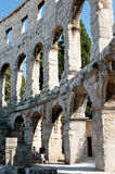 Antique Roman forum in Pula Royalty Free Stock Photo