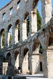 Antique Roman forum in Pula Royalty Free Stock Photo