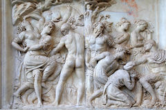 Antique roman relief ,Florence, Italy Royalty Free Stock Image