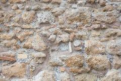Antique roman stone wall background Royalty Free Stock Photo