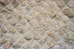 Antique roman stone wall background Stock Images
