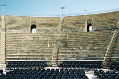 Antique Roman theatre. In Israel, Cesarea royalty free stock photos