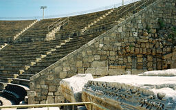 Antique Roman theatre. In Israel, Caesaree Stock Image