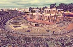 Antique  Roman Theatre. Merida Stock Image