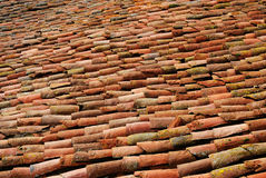 Antique roof tiles Royalty Free Stock Photography