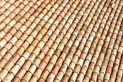 Antique roof tiles Stock Photo