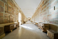 Antique room in the Vatican Museum, Rome. Italy Stock Photo