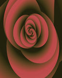 Antique rose. Abstract fractal image resembling and antique silk rose Stock Photos