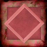 Antique rose abstract framed paper Royalty Free Stock Image
