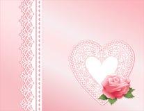 Antique Rose Lace Stock Photo