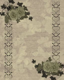 Antique roses border vector illustration