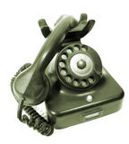 Antique rotary dial telephone Royalty Free Stock Photo