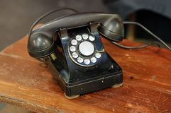 Antique rotary dial telephone Royalty Free Stock Images