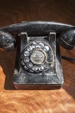 Antique Rotary Telephone. Close-up of antique rotary telephone Stock Photo