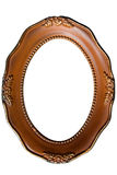 Antique round picture frame with gold and speckled Stock Image