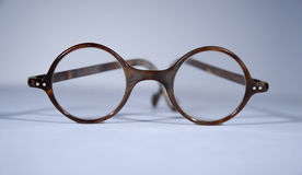 Antique round spectacles Royalty Free Stock Photos