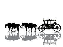 Antique royal coach Stock Images