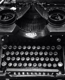 Antique Royal Typewriter. An antique Royal typewriter in black and white stock photos