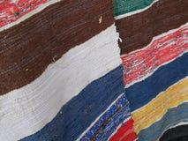 Antique rug striped stock image