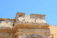 Antique ruins. In a city in an antique city the Ephesus Royalty Free Stock Images