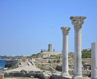Antique Ruins of the Ancient Greek City of Chersonese Royalty Free Stock Photos