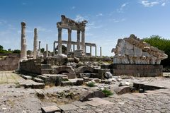 Antique ruins in Ephesus Royalty Free Stock Images