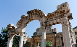Antique ruins in Ephesus Royalty Free Stock Image