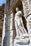 Antique ruins in Ephesus. Detail of Celsus Library in Ephesus, Turkey Royalty Free Stock Photography
