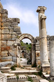 Antique ruins in Ephesus. Detail of ancient ruins in Ephesus, Turkey Stock Image