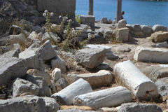 Antique ruins, Greece. Royalty Free Stock Image