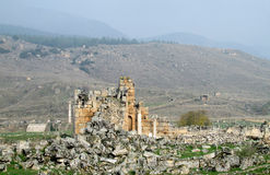Antique ruins of Hierapolis Stock Photo