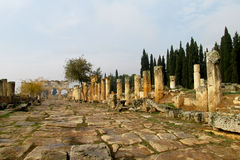 Antique ruins of Hierapolis Stock Photography