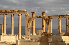 Antique ruins of Palmyra Royalty Free Stock Photography