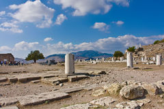 Antique ruins of Pergamon Stock Photo