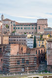 Antique ruins of roman forum in Rome Stock Photo