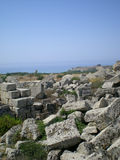 The antique ruins of Sicily in Selinunt Stock Photo