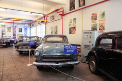 Antique russian cars in museum of Mosfilm Stock Photo