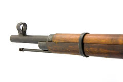 Antique russian mosin's rifle. On a white background Royalty Free Stock Photo