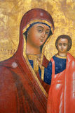 Antique Russian orthodox icon. On February 11, 2015 in Veliky Novgorod Royalty Free Stock Photography
