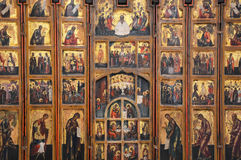 Antique Russian orthodox icon Stock Photography