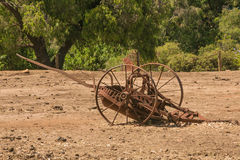 Antique Rusted Farming Equipment Royalty Free Stock Image