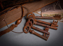 Antique rustic key set Royalty Free Stock Image
