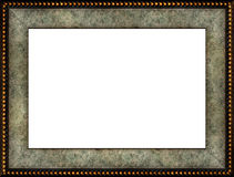 Antique rustic marble picture frame Stock Photography