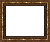 Antique rustic picture frame isolated Stock Image